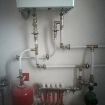 Обвязка труб котла отопления