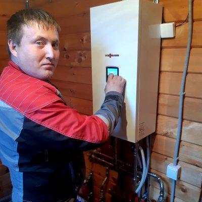 Монтаж котельного оборудования и прокладка сетей в частном доме